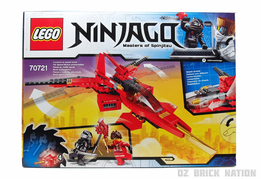 Oz Brick Nation Lego Ninjago 70721 Kai Fighter Review