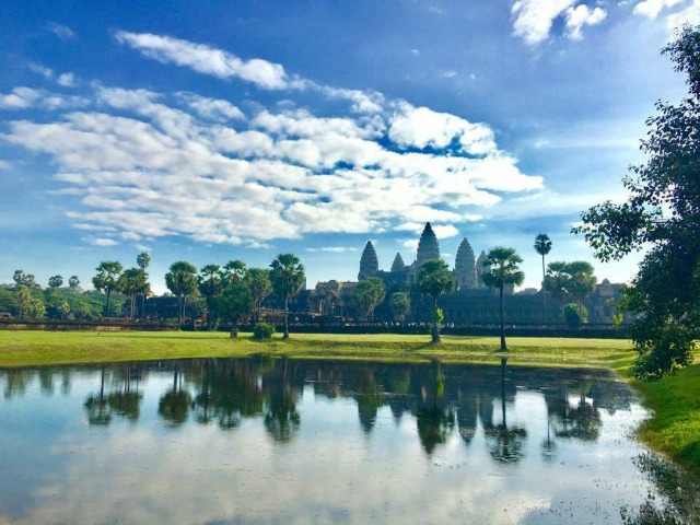 the amazing Angkor Wat after sunrise in Siem Reap Cambodia