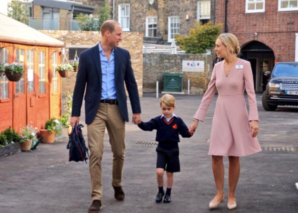 Prince George begins first day of school