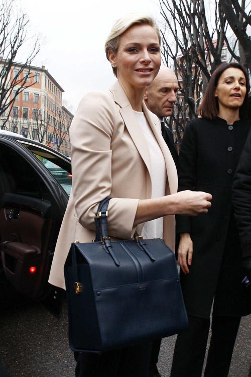 Princess Charlene and Armani Bag