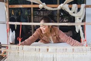 Prae Pan Group weaver in Northeast Thailand
