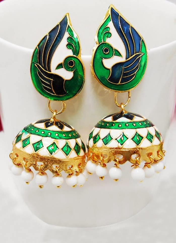 latest and stylish designs of jhumkas by cbazaar from 2014