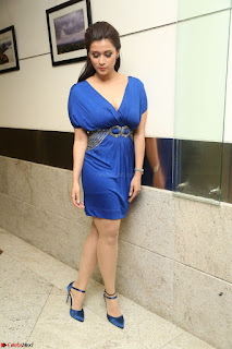 Mannara Chopra in Short Blue Dress at Rogue Movie Teaser Launch 1st March 2017 087.JPG