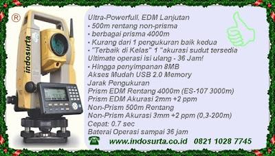 total station topcon-es103-105.Produk PT INDOSURTA