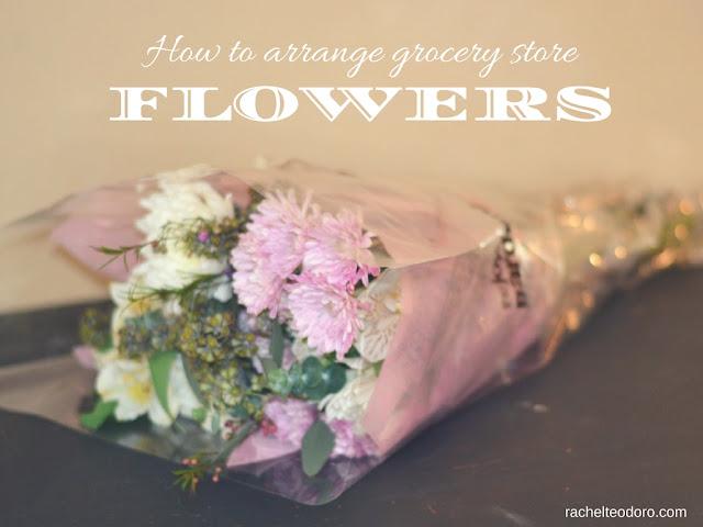 how to arrange grocery store flowers to look like flower shop flowers rachel teodoro. Black Bedroom Furniture Sets. Home Design Ideas