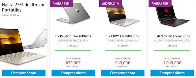 Mejores portátiles promo Liquidación en la HP Store