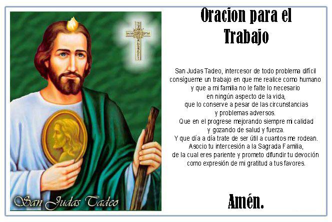 Oracion Para El Trabajo San Judas Tadeo Econociendo