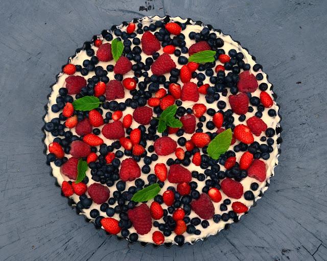 tarta+oreo Tarta Oreo z owocami lata
