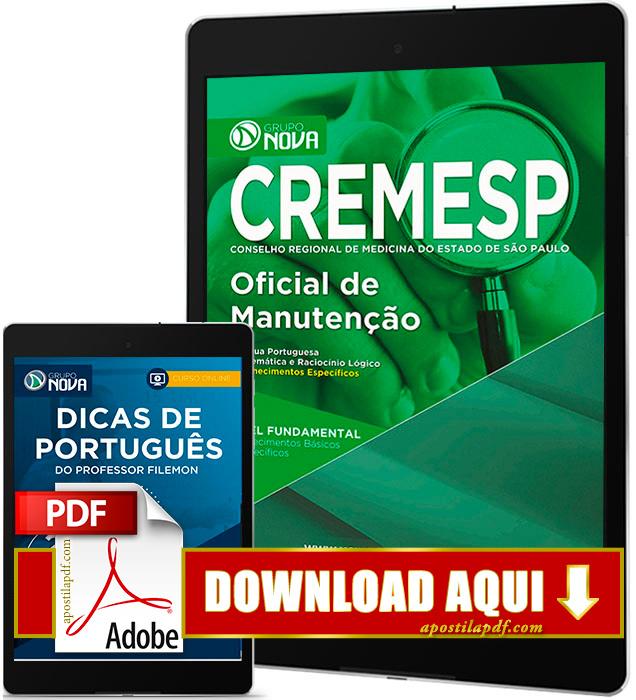Apostila CREMESP 2016 PDF Download Oficial de Manutenção