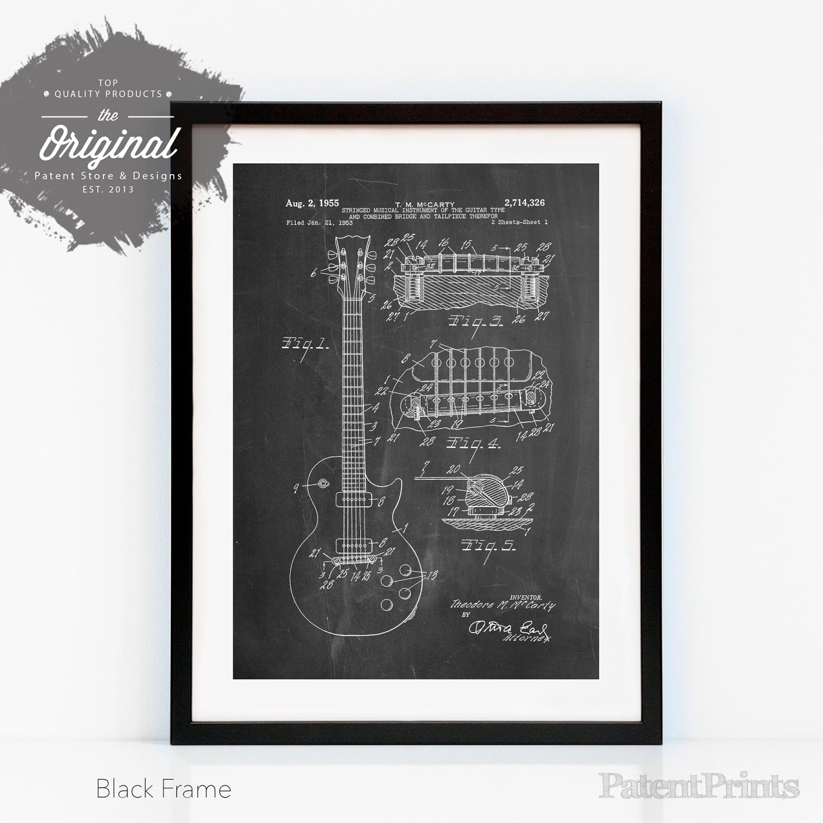 Gibson Les Paul [Guitar Patent Poster]