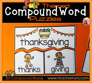 Fall themed Compound Words