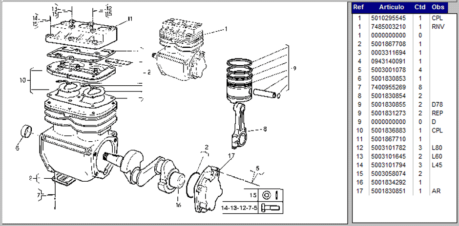 RENAULT TRUCKS: Catálogo de Partes (2014-1991) Camiones