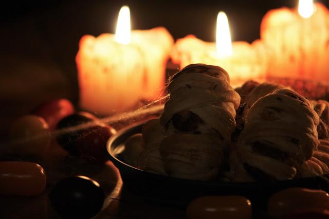 Halloween: Gefüllte Mini Mumien