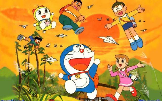 Doraemon And His Friend Summer Fun HD Wallpapers