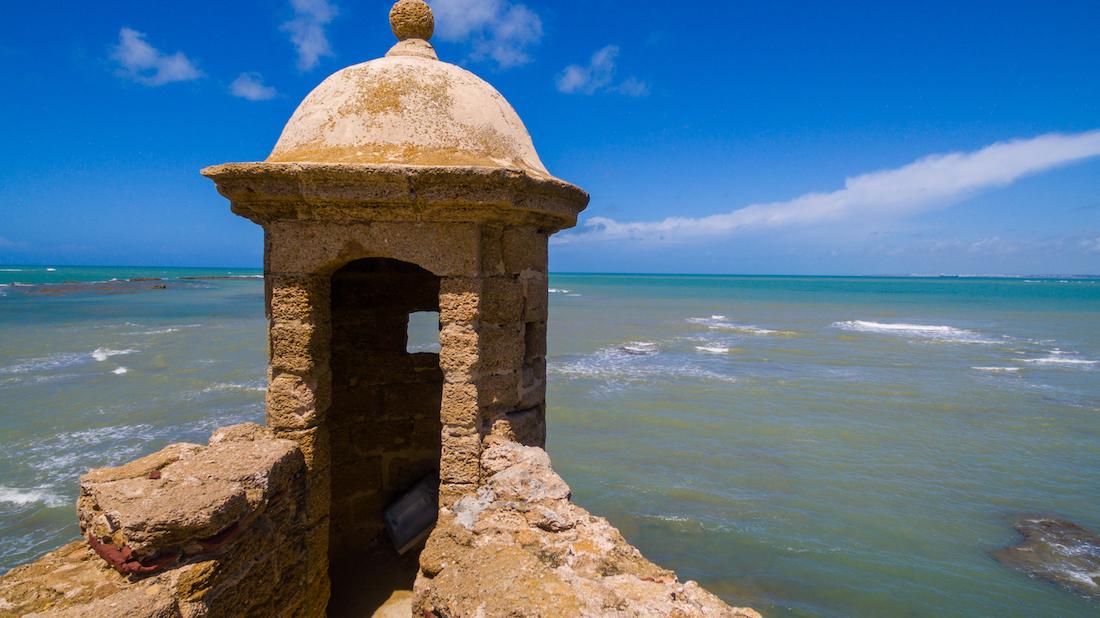 Coastal walk in Cadiz, Spain