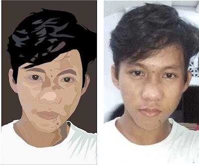 tutorial gambar vektor wajah jadi kartun