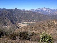 View northwest toward San Gabriel Reservoir from Glendora Mountain, Angeles National Forest