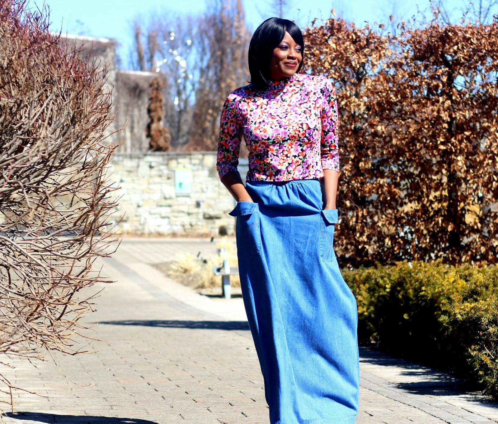 what to wear with denim skirt in spring