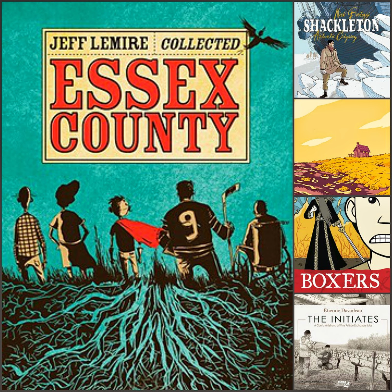 comics essex county, shackleton, boxers, the initiates