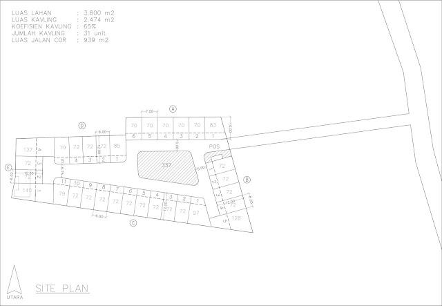 site plan kontrakan