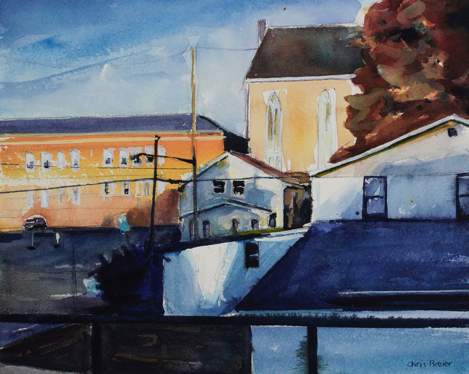 Watercolor painting of Williamsville NY