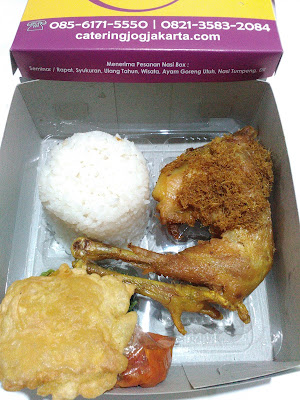 nasi box jogja, ayam goreng kampung jogja, ayam goreng kampung di yogyakarta