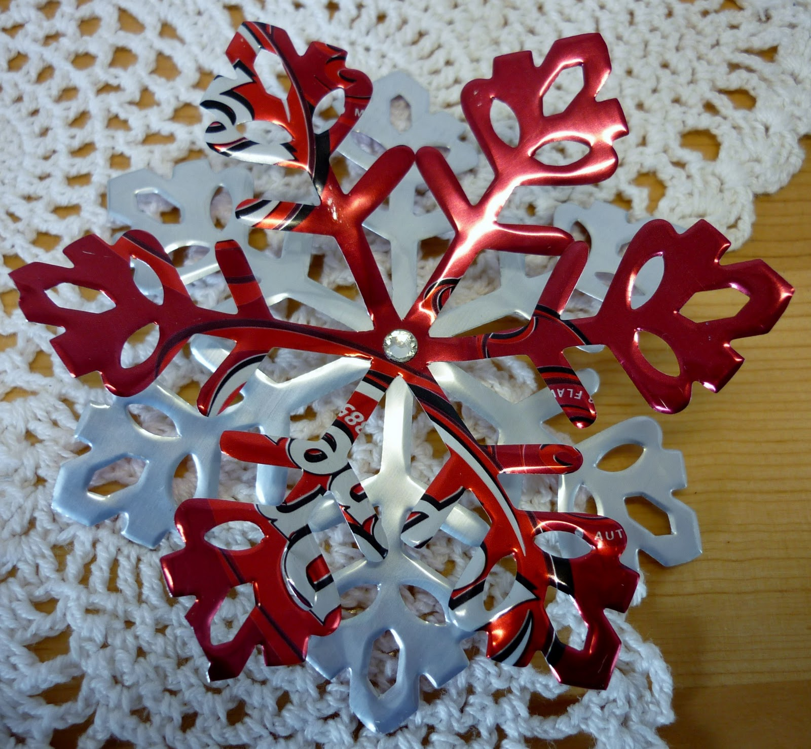 Soda In Christmas Tree Water: Papercrafts Love Affair: Soda Can Ornaments