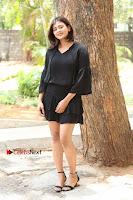 Actress Hebah Patel Stills in Black Mini Dress at Angel Movie Teaser Launch  0108.JPG