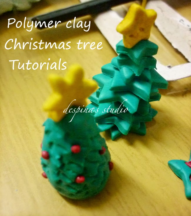 Polymer clay Christmas tree tutorials