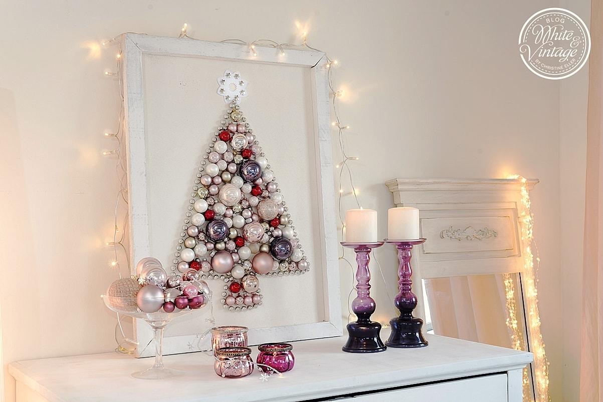 Alternativer Weihnachtsbaum aus Kugeln basteln