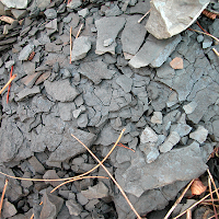 Weathering shale
