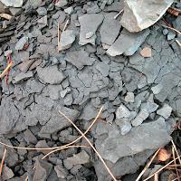 Weathering shale