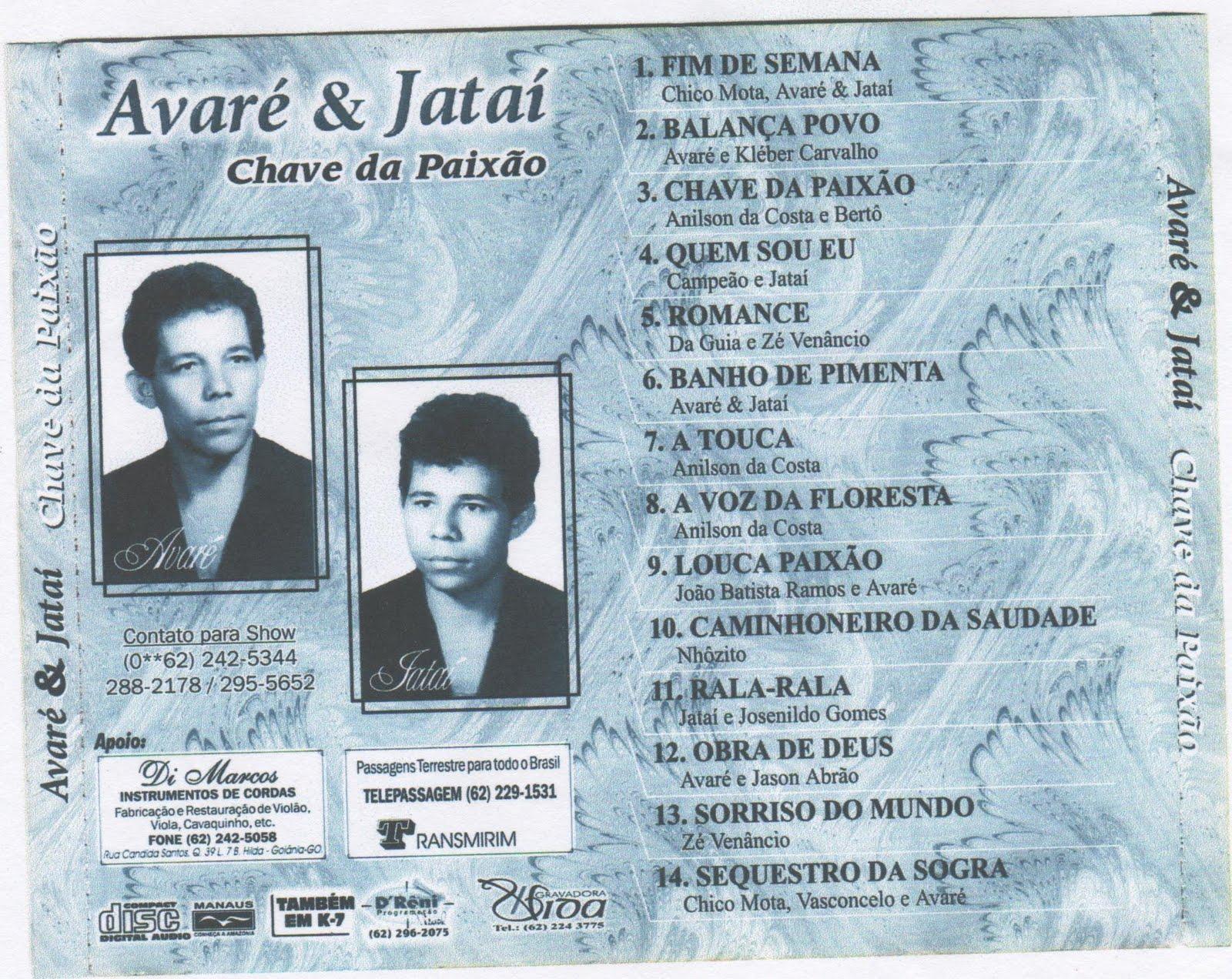 DE AVARE JATAI GRÁTIS E CD DOWNLOAD