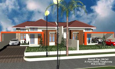 Contoh rumah yang menggunakan atap model limas