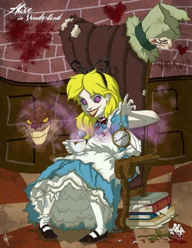 Princesas da Disney transformadas em monstros