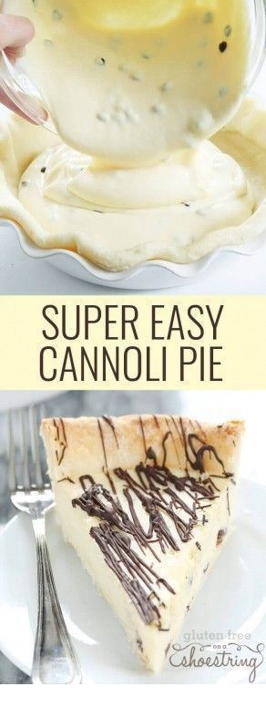 Super Easy Gluten Free Cannoli Pie