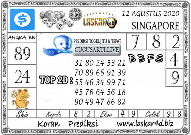 Prediksi Togel SINGAPORE LASKAR4D 12 AGUSTUS 2020