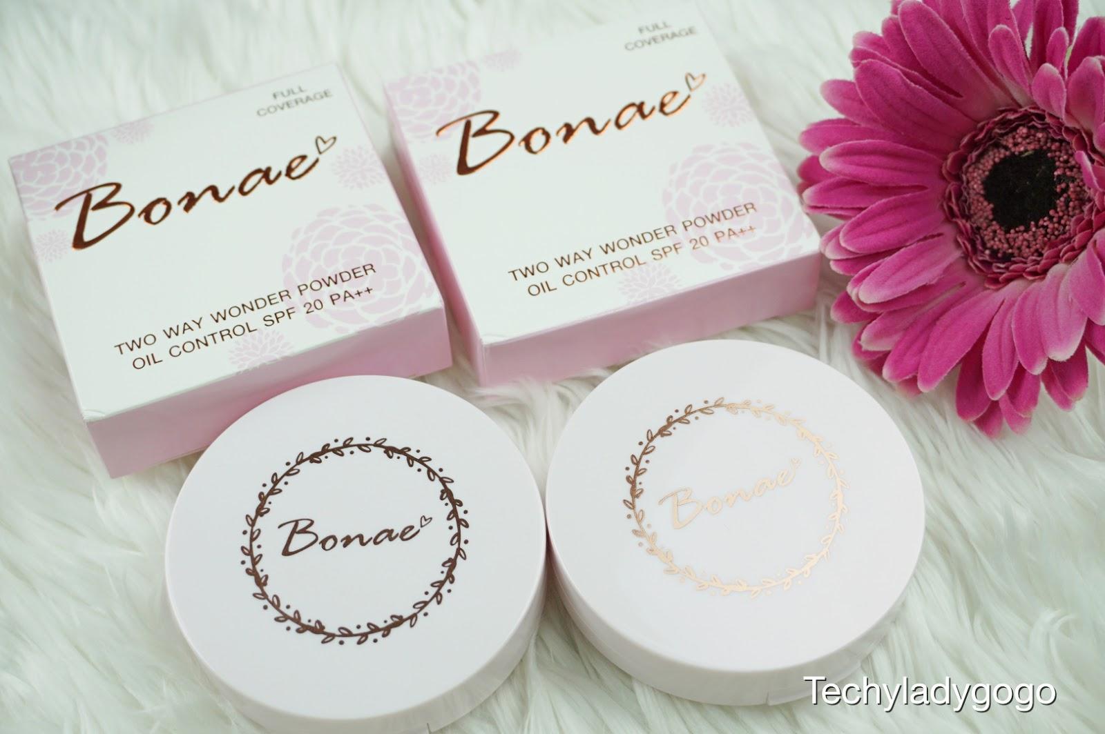 Bonae Two Way Wonder Powder SPF20 PA++ แป้งบอนเน่ ทูเวย์ วันเดอร์ พาวเดอร์ รีวิว แป้งคุมมัน แป้งรองพื้น แป้งพัฟ แป้งคนไทย แป้งปกปิด Full Coverage
