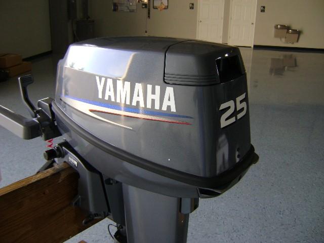 25 hp Yamaha 4 Stroke Outboard Electric Start, Tiller, 15