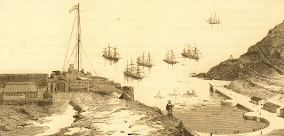 James Bay, St. Helena – Napoleon arrives on HMS Northumberland 1815