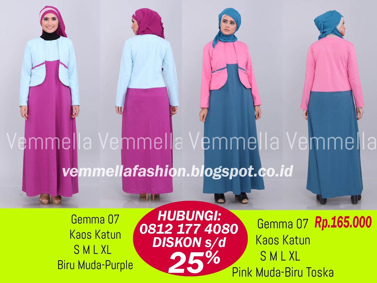 Katalog vemmella baju kaos gamis atasan 0856 4864 8202 Baju gamis elif