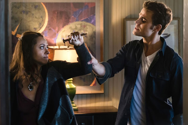 The Vampire Diaries Season 8 Episode 11 You Made A Choice to Be Good Stefan Salvatore human not a vampire Enzo dead