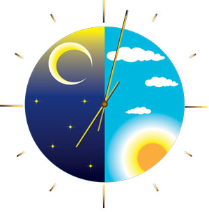 day and night clock