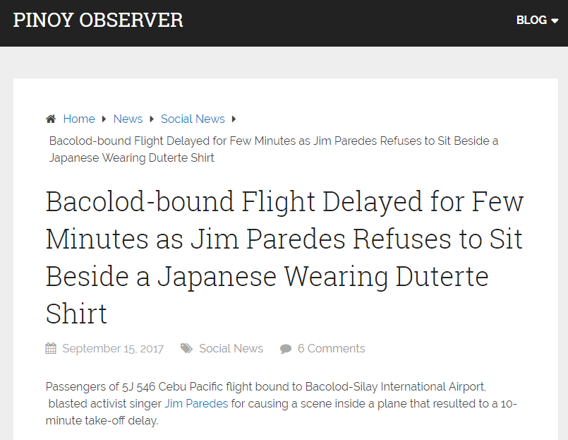 Jim Paredes Reacts On His Viral Video: MUST READ: Truth About The Jim Paredes Cebu Pacific