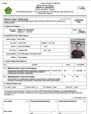 Cara Cetak Surat Keterangan Beban Kerja (SKBK) S29d