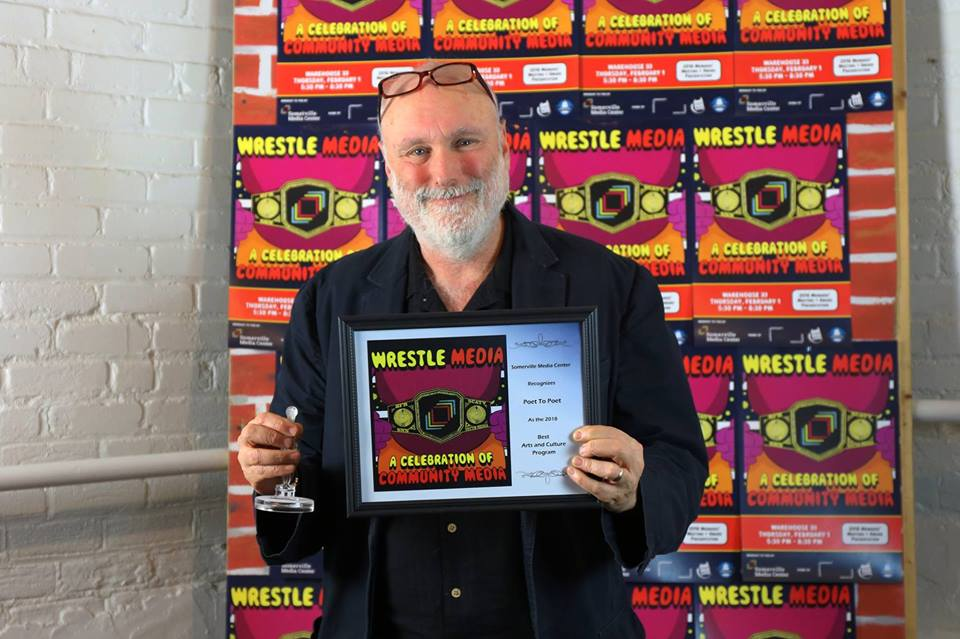 Doug Holder wins 2018 Somerville Media Center Award for Best Arts and Cultural Program