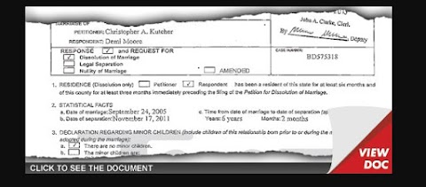 Demi Moore Pide Pension de Manutencion a Ashton Kutcher