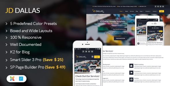 JD Dallas – Responsive Business Joomla 3.7 Template