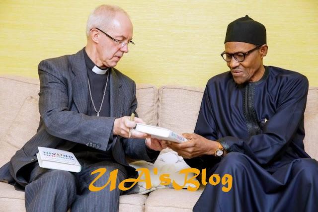 Buhari hosts Archbishop of Canterbury in London [PHOTOS]