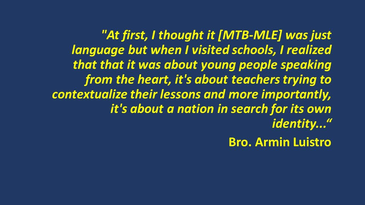 Mother Tongue Based Multilingual Education (MTBMLE